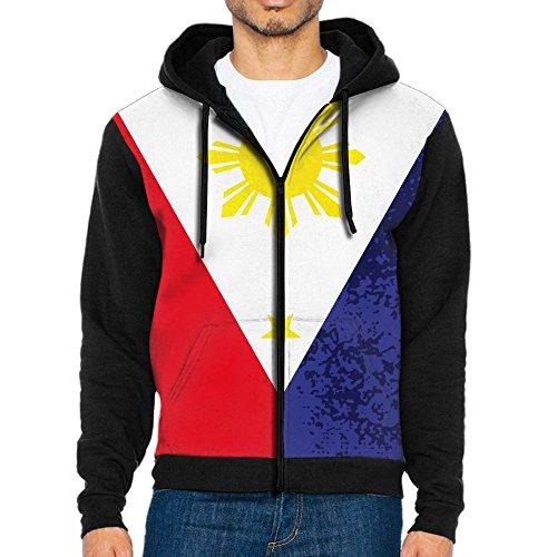 SHEERY Filipino Flag Pullover Sweatshirt Full Zip Hoodie Sweatshirt