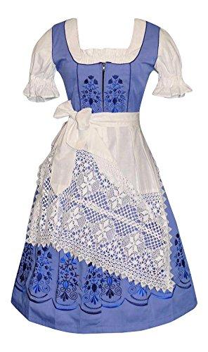 Dirndl Trachten Haus 3-piece Long German Party Oktoberfest Waitress Dress (20) (German Dirndl)