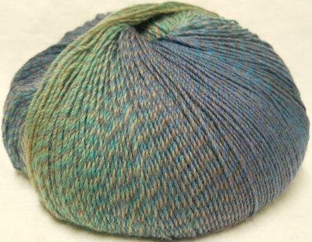 Knitting Fever Painted Desert Superwash Yarn Self Striping Fingering Weight Color 20 Plummy - Fingering Weight