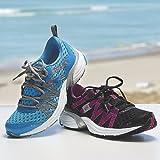 RYKA Women's Hydro Sport Water Shoe Cross-Training Shoe, Detox Blue/Twinkle Blue/Chrome Silver, 6 M US