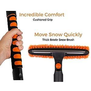 "Snow Moover 39"" Extendable Snow Brush with Squeegee & Ice Scraper   Foam Grip   Auto Snow Brush   Auto Ice Scraper   Car Truck SUV"