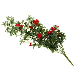 MonkeyJack Artificial Rhododendron Flower Vine Garden Hanging Wall Hanging Decor - Red, 81cm 28