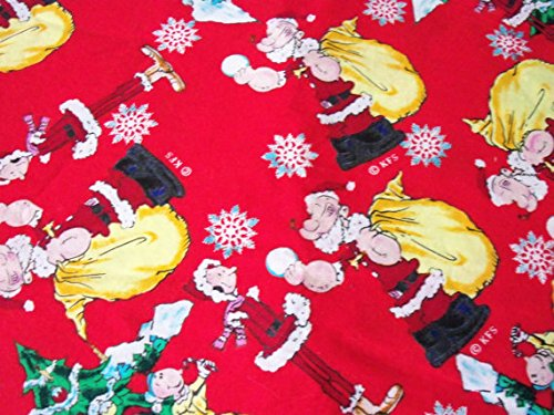 Popeye Fabric Olive Oyle Christmas Very Rare & HTF ByThe Fat Quarter New BTFQ