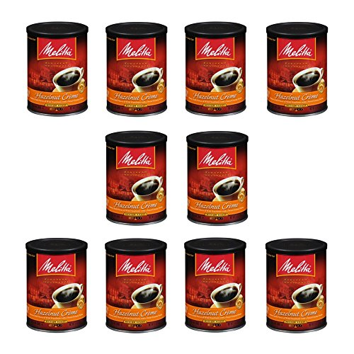 Melitta Hazelnut Creme Ground Coffee, 11-Ounce Cans (Pack OF 10) ()