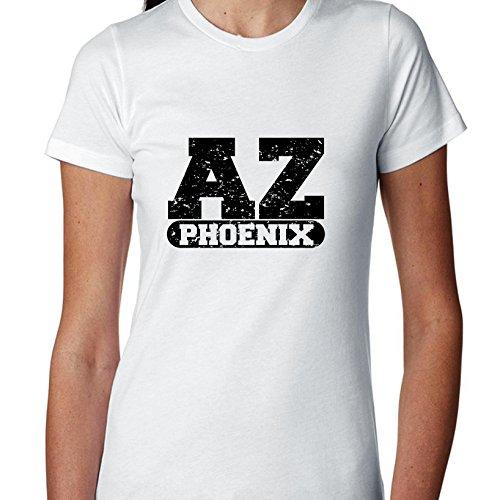 Hollywood Thread Phoenix, Arizona AZ Classic City State Sign Women's Cotton T-Shirt -