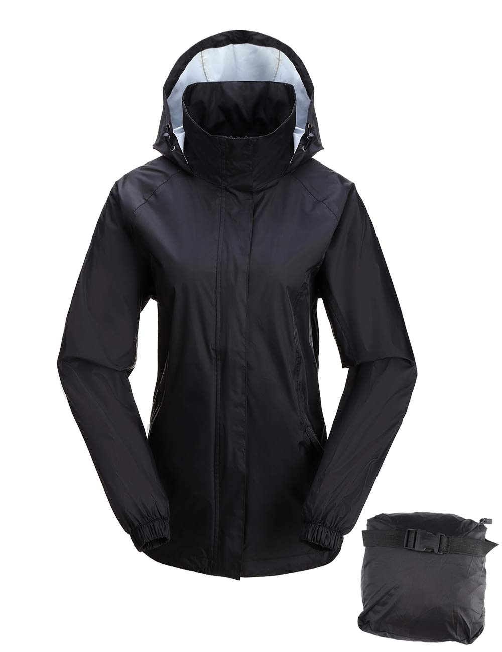 women hooded rain jacket