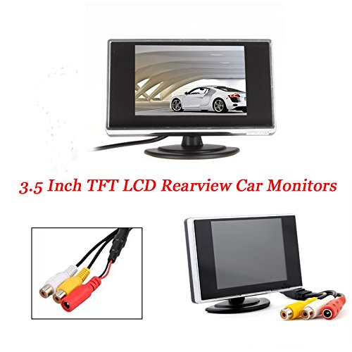 3.5 Inch Small TFT LCD display Adjustable Monitor For Security CCTV Camera and car DVR car Parking screen GoodWill Sky PM3501-dk