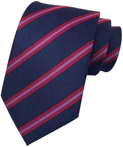 Hjyi Corbata de Vestir para Hombre, Corbata de Rayas oscuras ...