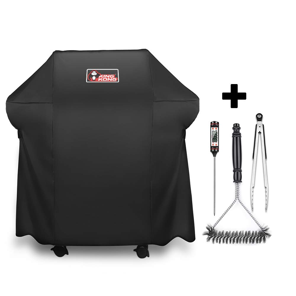 Kingkong Gas Grill Cover 7138 Cover for Weber Spirit 200 and Spirit II 200 Series 2 Burner Gas Grill Including Grill Brush, Tongs and Thermometer by Kingkong