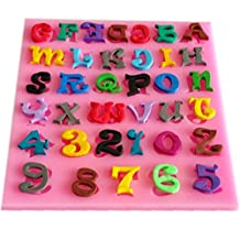 SHINA New Arrival Fondant Silicone Sugar Letters And Numbers Shaped Cake Craft Mold For Your Baby