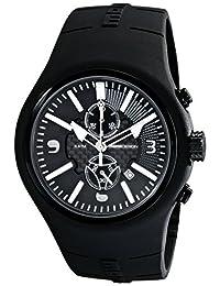 Momo Design Men's MD1009BK-06BKWT Mirage Chrono Analog Display Swiss Quartz Black Watch
