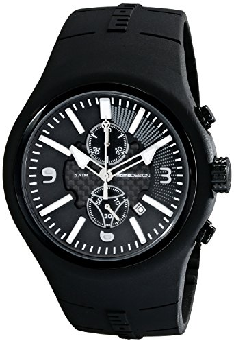 Momo Design Men's MD1009BK-06BKWT Mirage Chrono Analog Display Swiss Quartz Black Watch