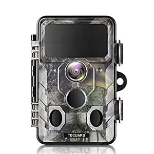 TOGUARD Upgraded Trail Camera WiFi Bluetooth 20MP 1296P Hunting Game Camera with 120° Monitoring Angle with Motion…