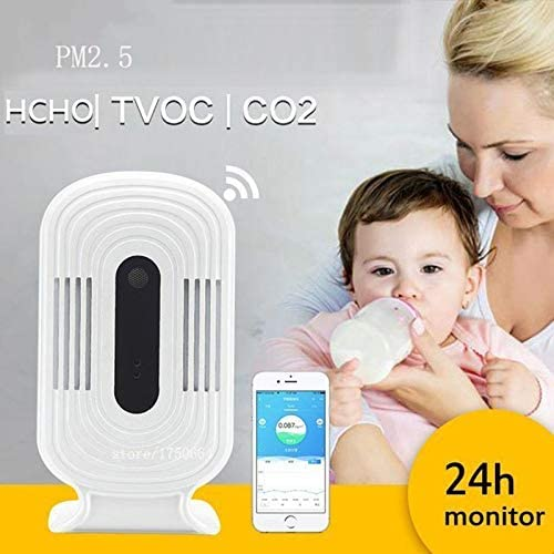 FASD WiFi PM2.5 HCHO TVOC CO2 Thermometer Hygrometer Carbon Dioxide Monitor Smart Gas Detector Formaldehyde Air Quality Analyzer / FASD WiFi PM2.5 HCHO TVOC CO2 Thermometer Hygrometer Carbon Dioxide Monitor Smart Gas Detector Forma...