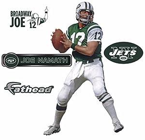 "Joe Namath Fathead New York Jets Legend NFL Wall Graphic 16""x9"""