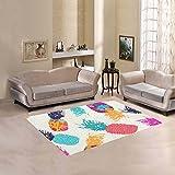 Cheap Happy More Custom Pineapple Fruit Area Rug Indoor/Outdoor Decorative Floor Rug
