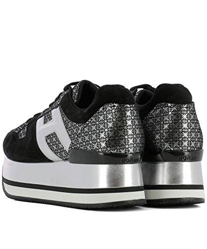 Hogan Damen HXW3440J850I6T0ZHC Schwarz Wildleder Sneakers