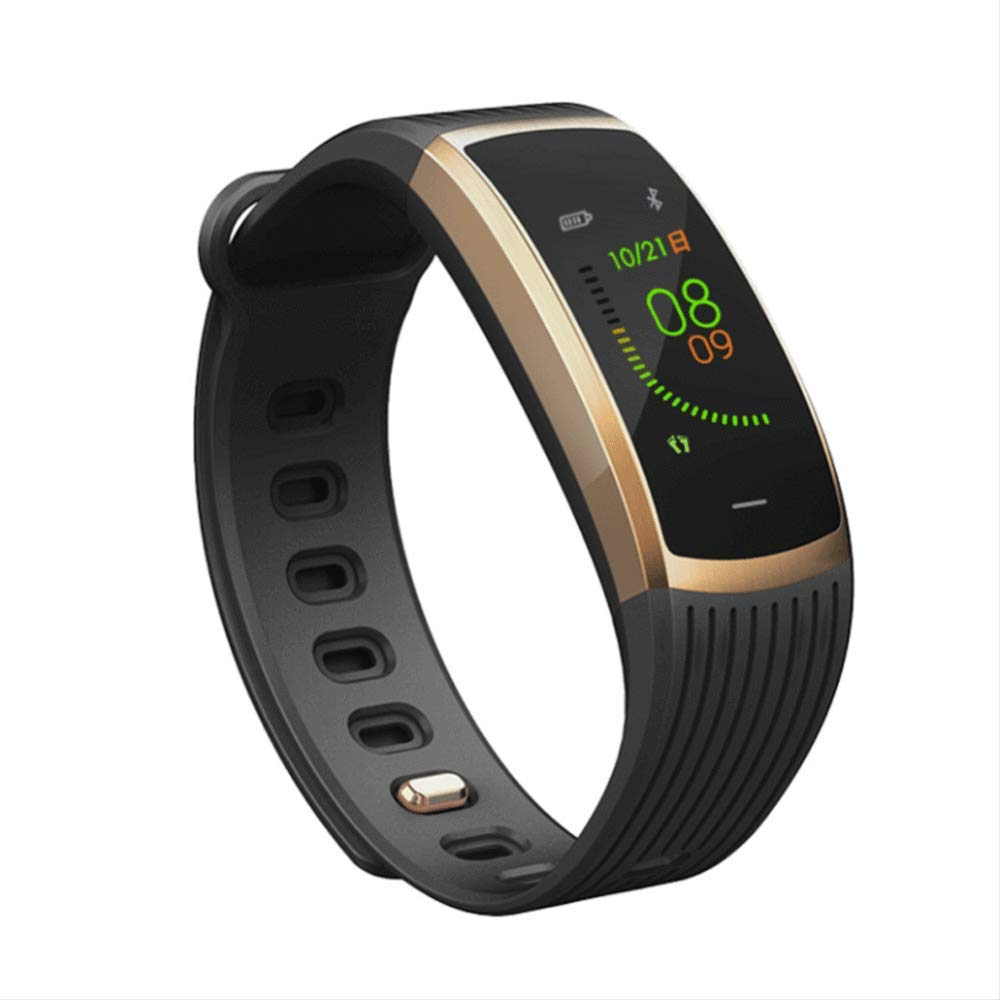 OFZYG 新しいフィットネストラッカーカラースクリーンスマートブレスレット血圧心拍数健康ステップファッション歩数計メッセージリマインダーip67アンドロイドios  B B07S192R5G