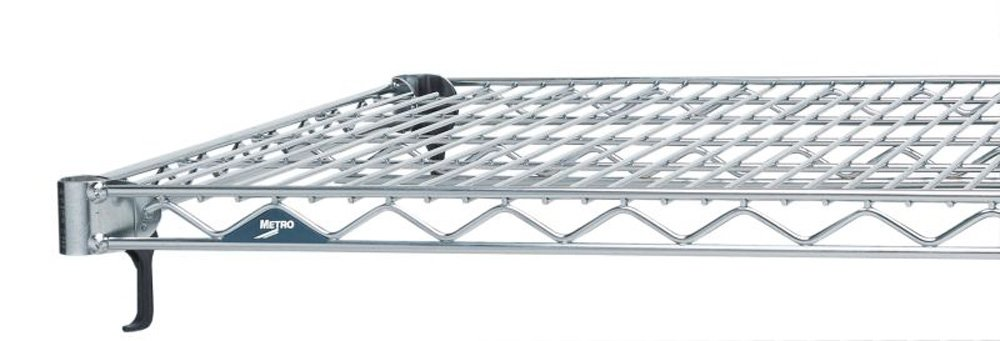Metro A2460NC Super Adjustable Super Erecta Chrome Plated Steel Wire Shelf, 600 lb. Capacity, 1'' Height x 60'' Width x 24'' Depth (Pack of 2)