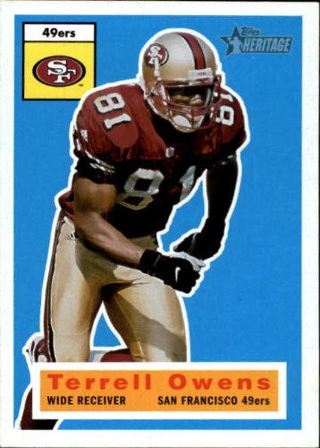 2001 Topps Heritage Football Card #39 Terrell Owens Near ()