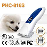Low Noise Rechargeable Pet Grooming Clippers Cordless Pet Dogs and Cats Electric Clippers Grooming Trimming Kit Set