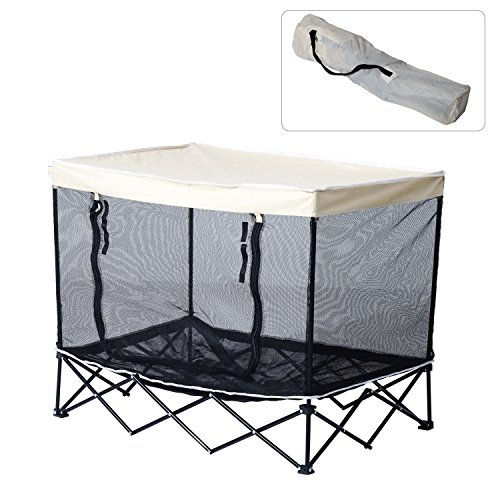 40-large-elevated-pet-bed-foldable-cat-dog-canopy-cot-camping-shade-outdoor