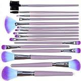 16 PCS Professional Makeup Cosmetic Brush Set Kit + Purple Pouch Bag Case