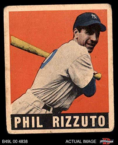 - 1948 Leaf # 11 Phil Rizzuto New York Yankees (Baseball Card) Dean's Cards 2 - GOOD Yankees