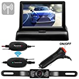 Emmako Wireless Backup Camera 4.3 Monitor Kit For Car/SUV/MPV/Van/Camper Rear View System Mirrored/Normal View Switchable ON/OFF Guide Lines Width and Length Adjustable IP68 Waterproof Night Vision