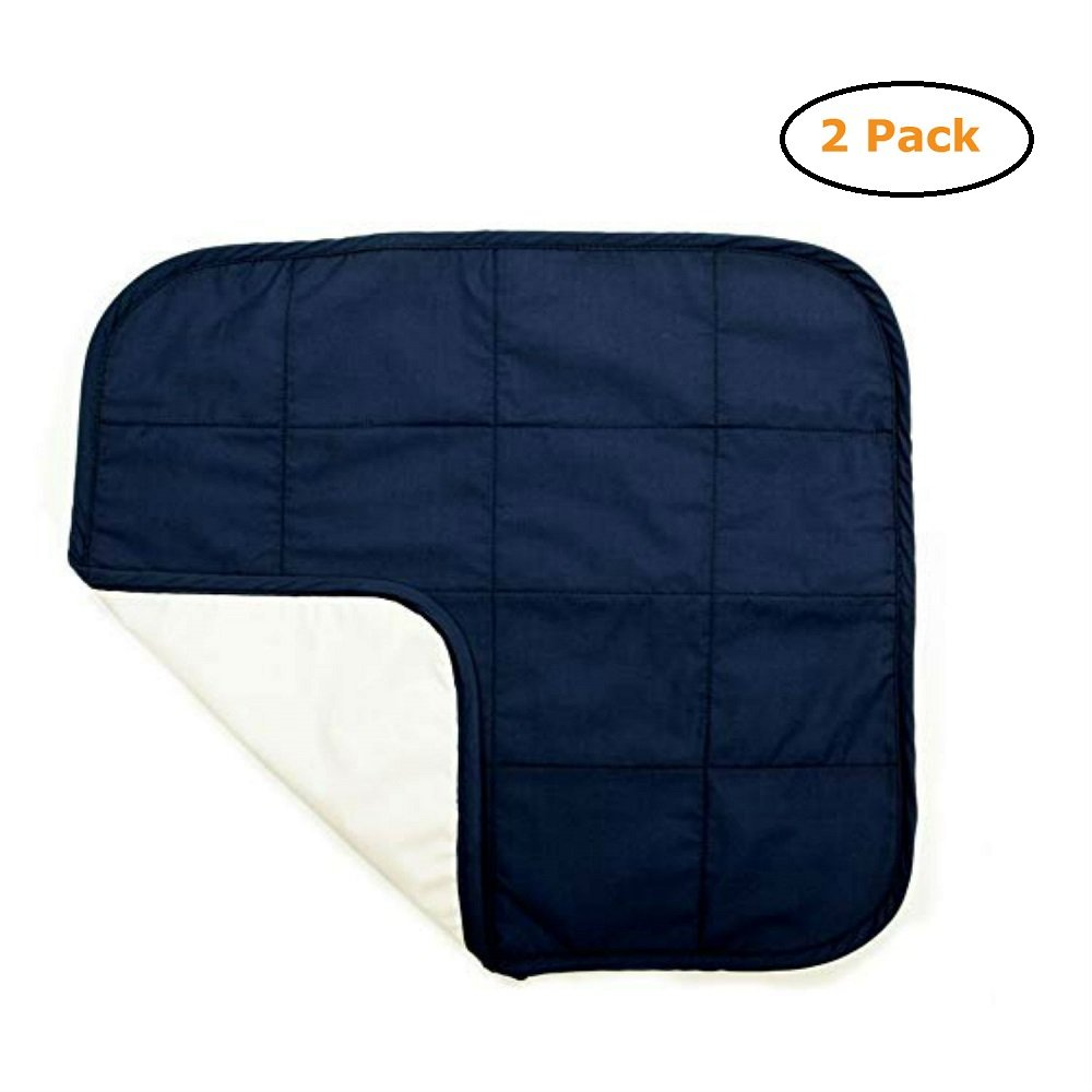 Quilted Waterproof Seat Protector - Size -20 X 21 - Navy Color - Pack of 2