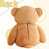 LOVELY GIANT 80CM BIG CUTE PLUSH TEDDY BEAR HUGE LIGHT BROWN SOFT COTTON TOY NEW