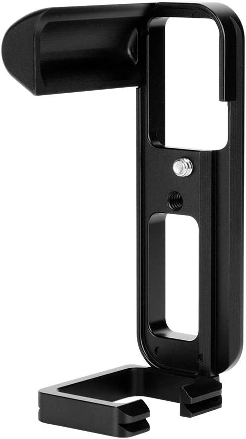 aleaci/ón de aluminio desmontable Vertical QR L-Bracket Mount Hand Grip con orificio de tornillo de 1//4 pulgadas para riel de tr/ípodes Placa de liberaci/ón r/ápida de la c/ámara para Fuji X-T20 XT10 etc