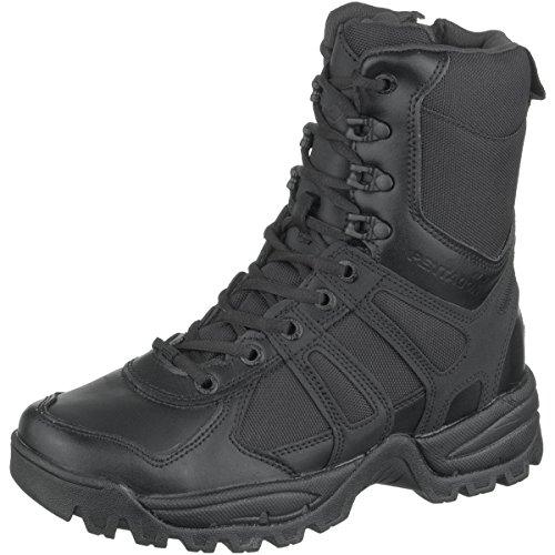 Pentagon Hombres Scorpion Zip Botas Negro tamaño 47 EU / 13 UK