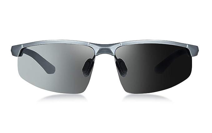 WHCREAT Gafas de Sol Fotocromáticas de Conducción Polarizadas para Hombres Todo el día para Golf Correr Pescar Trekking