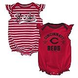 MLB  Cincinnati Reds Infant Girls 2Pk Creeper-24 Months