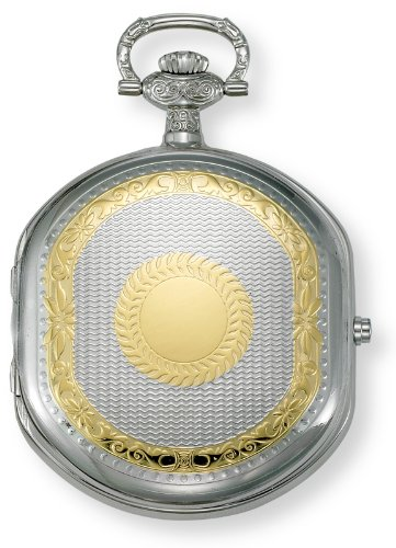 Gotham Men's Two-Tone Swiss Quartz Date Movement Pocket Watch # GWC14044T