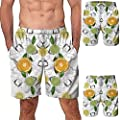 NUWFOR Men Casual 3D Graffiti Printed Beach Work Casual Men Short Trouser Shorts Pants