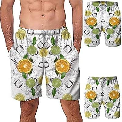 NUWFOR Men Casual 3D Graffiti Printed Beach Work Casual Men Short Trouser Shorts Pants