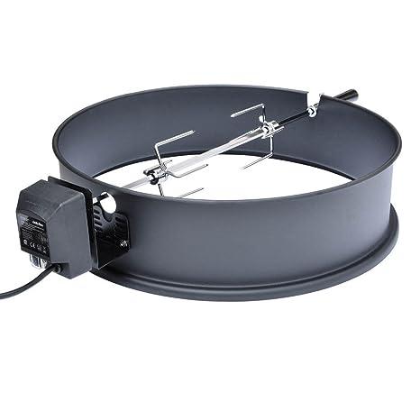 Onlyfire BRK-6025 Set de asador Ring para Barbacoa para 57 cm carbón Vegetal Barbacoa, Weber y Muchos Otros Modelos, Asador, Tenedor, Motor de ...
