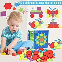 Alextry Holzkl?TZE IQ - Caja de Puzzles Montessori