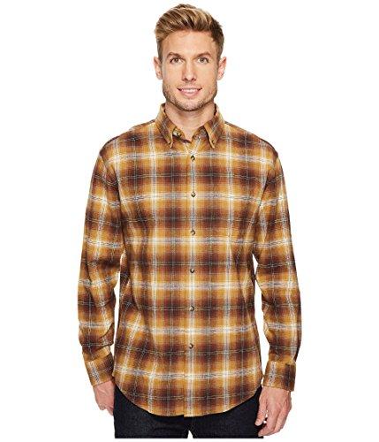 Pendleton Men's Lister Flannel Shirt Brown Ombre Button-up Shirt