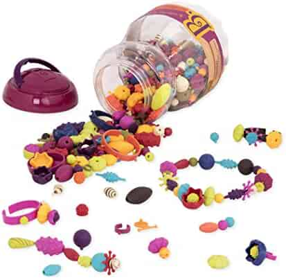 B Toys - (500-Pcs) Pop Snap Bead Jewelry - DIY Jewelry Kit for Kids