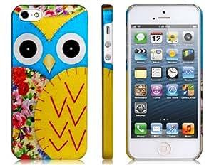 TR Cartoon Finish PC caja de plástico protectora Baked Owl para iPhone 5