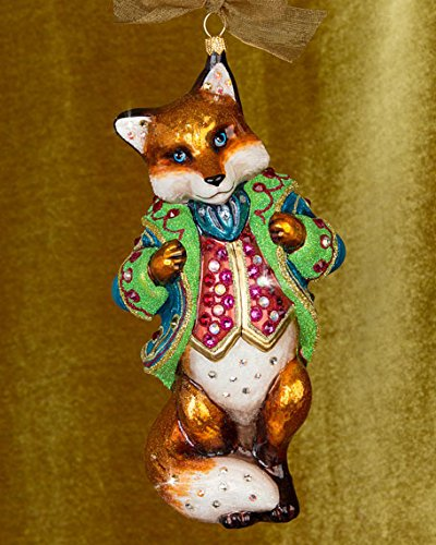 Jay Strongwater Jubilee Fox Glass Christmas Ornament Brand New in Gift Box - Amazon.com: Jay Strongwater Jubilee Fox Glass Christmas Ornament