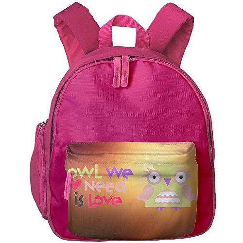 Owl We Need Is Love Childrens Polyester Oxford Shoulders Bag,Satchel For Girls