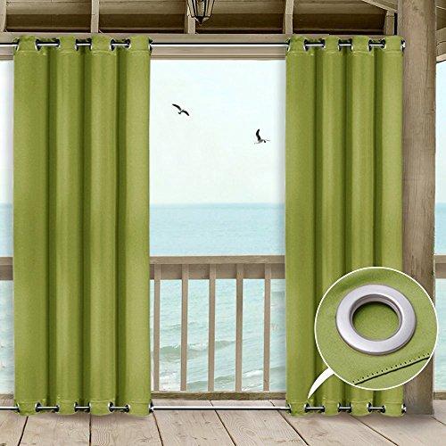 Cheap  NICETOWN Patio Outdoor Privacy Curtain Pergola Multifunctional Triple Weave Microfiber Grommet Thermal..