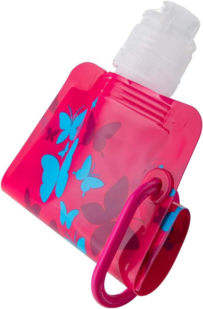 Kids 0.4L//13.5oz BPA Free Leakproof Reusable Foldable Flexible Packable Collapsible Water Beverage Bottle for Kids Vapur