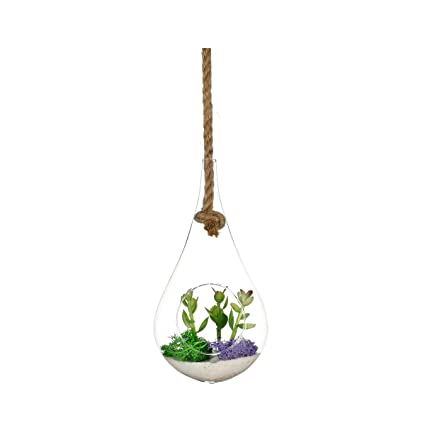 Amazon Com Newdreamworld S 4 X 7 5 Glass Drop Globe Held By Rope