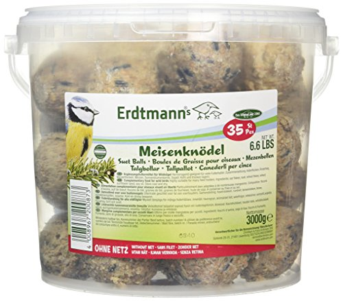 Erdtmanns Suet Balls, no nets, in Tub (Pack of 35) by Erdtmanns