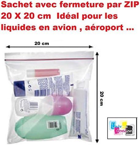 lote 5 ex - bolsa con cierre de cremallera 20 x 20 cm Ideal para ...